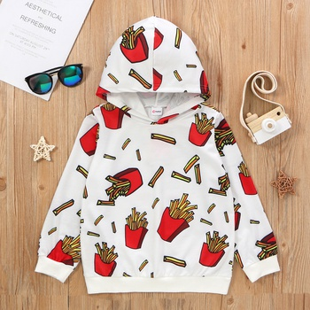 Kid Unisex French Fries Hooded Sweatshirt