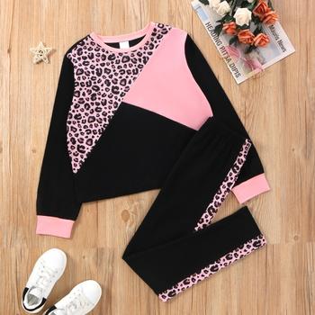 Fashinable Kid Girl Leopard & Color Block Set