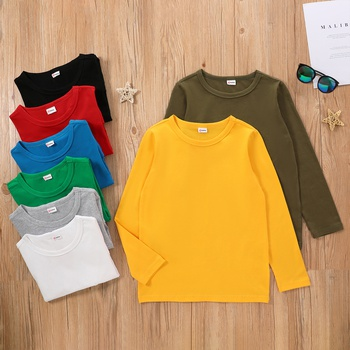 Trendy Kid Unisex Basic Casual Long-sleeve T-shirt