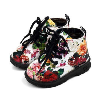 Toddler / Kid Girl Floral Pattern Lace-up Shoes