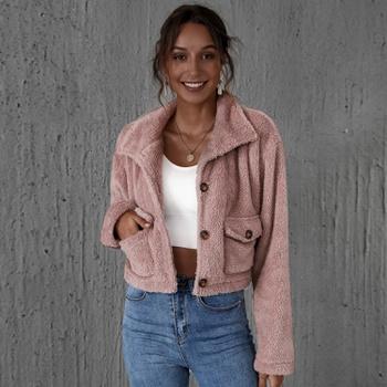 casual Light Purple short Coats