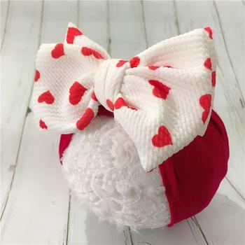 Baby Pretty Heart Print Bowknot Headband