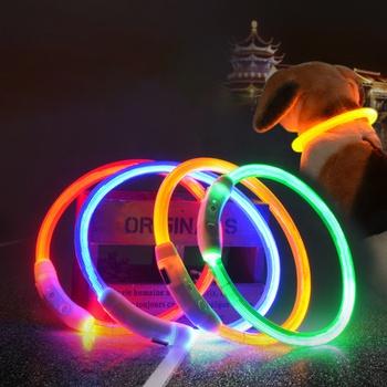 Pet Collar USB Charging Collar LED Luminous Circle