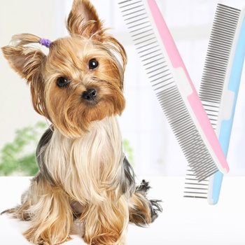 Combs with Rounded Ends Stainless Steel Teeth, Pet Comb for Removing Tangles and Knots