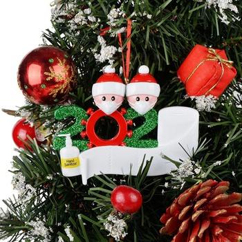 2020 Family DIY Handwritten Name Doll Snowman Christmas Tree Hanging Pendant Christmas Ornaments