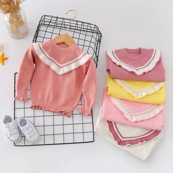 New Autumn Winter Kids Sweater Baby Jumper Children Knit Top Fashion O-Neck Sweater