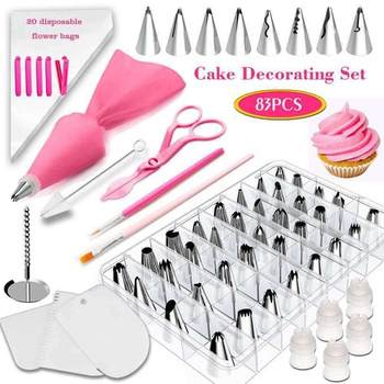83 Pieces Cake Decorating Supplies Kit for Beginners, Cupcake Decorating Tools Baking Supplies Set