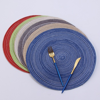 Cotton Braided Placemat Kitchen Table Heat Shield