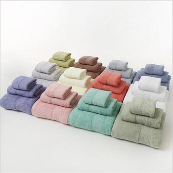 3PCS Set 100% Cotton Solid Bath Towel, Hand Towel, and Washcloth