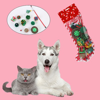 Cat Toy Christmas Stocking Packaging Combination Set