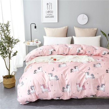 Cartoon Unicorn Printed Quilts Summer Thin Air-conditioned Comforter Queen Size Colcha Duvets Single Bed
