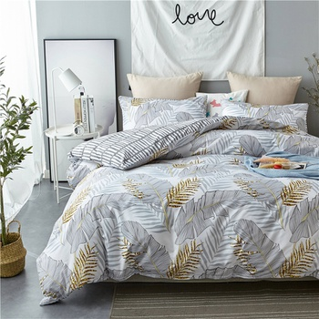 Plant Printed Quilts Summer Thin Air-conditioned Comforter Queen Size Colcha Duvets Single Bed
