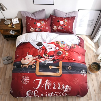 Christmas Printed Quilts Summer Thin Air-conditioned Comforter Queen Size Colcha Duvets Single Bed
