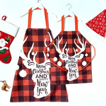 Deer Print Cotton and Linen Family Aprons