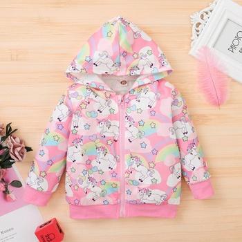 Baby Girl casual Animal & Unicorn Coat & Jacket Hooded Cotton Fashion Long Sleeve Infant Clothing Outfits
