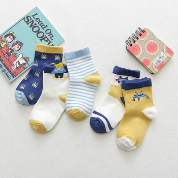 5-pack Baby / Toddler / Kid Cartoon Universe Striped Socks