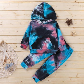 2-piece Baby / Toddler Tie-dye Pullover and pants Set