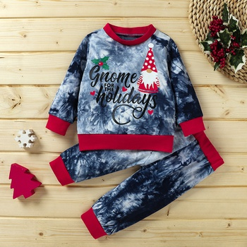 2-piece Baby / Toddler Christmas Long-sleeve Pullover and Pants Set