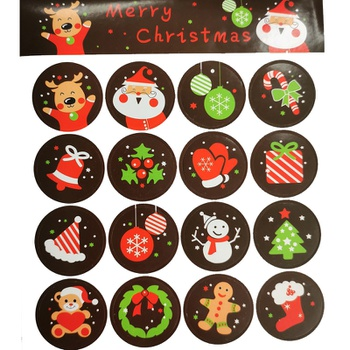 Cute cartoon pet elk Christmas stickers