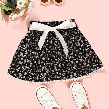 Baby / Toddler Bowknot Floral Skirt
