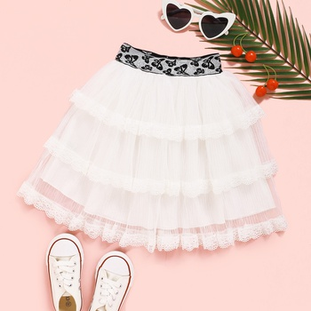 Baby / Toddler Girl Lace Mesh Tiered Skirt