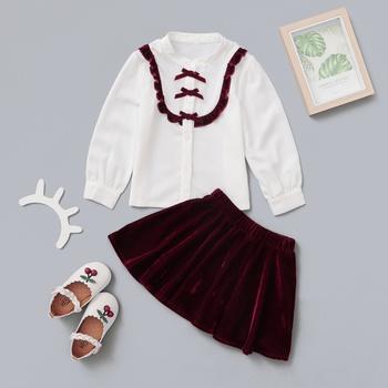 1pc Long-sleeve Toddler Girl Suit-dress