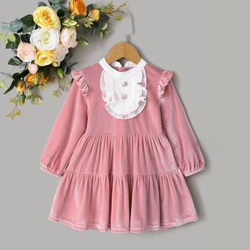 1pc Long-sleeve Toddler Girl Dress