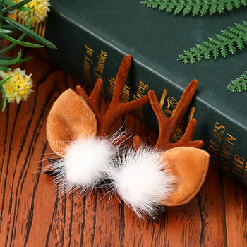 Pet Christmas Cute Elk Antler Hairpin