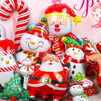 2020 Merry Christmas Balloons Santa Clause Snowman Tree New Year Christmas Balloons Party Decoration Balloons
