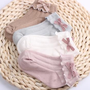 Baby / Toddler / Kid Bowknot Flounced Socks