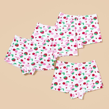 4- Pack Baby / Toddler Girl Strawberry Pattern Underwear Set