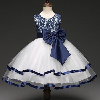 3ca760036 Elegant Sleeveless Princess Tulle Dress in Blue for Girls