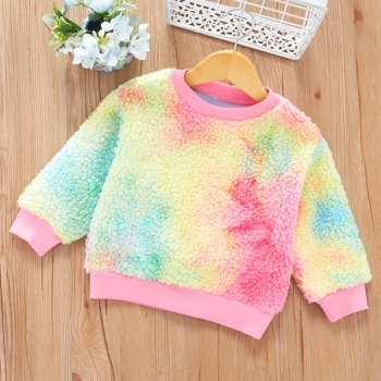 Baby / Toddler Chic Tie-dye Fluff Long-sleeve Pullover