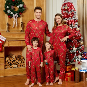 Mosaic Family Matching Reindeer Christmas Pajamas Onesies (Flame Resistant)