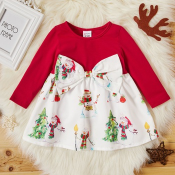 Baby Girl Christmas Tree Sweet Dress