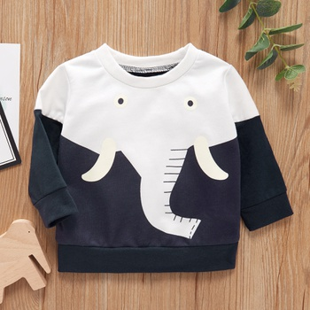 1pc Baby Girl Long-sleeve Cotton casual Dinosaur Pullovers & Hoodies