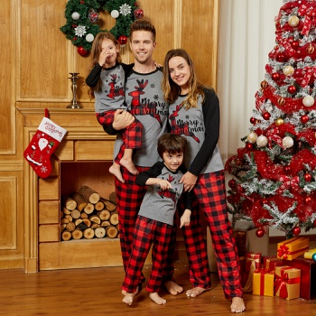 Mosaic Family Matching Reindeer Christmas Pajamas Set(Flame resistant)
