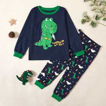 Stylish Dinosaur Print Sweatshirt and Allover Pants Set