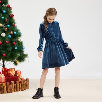 Kid Girl Sweet Velvet Dress
