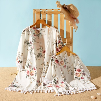 Floral Print Cover Up With Tassel for Mommy and Me