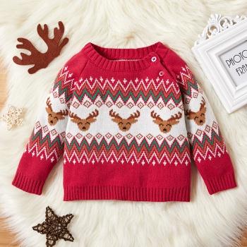Baby Girl Elk Sweater