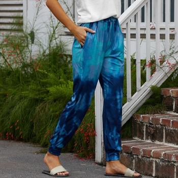 casual Elastic waistband sweartpants pants