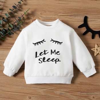 1pc Long-sleeve  Baby Girl casual Letter Pullovers & Hoodies