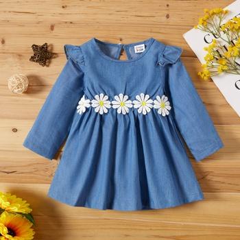 Baby Girl Sweet Denim Dress