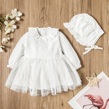 2-pcs Baby Girl Sweet Costumes & Formal Dresses & Tuxedos Long-sleeve Sweet Cotton Princess dress Baby Girl Clothes