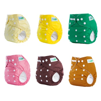 Baby Washable Adjustable Cloth Diaper Waterproof Breathable Eco-friendly Diaper