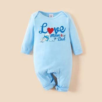 Smurfs Baby Boy/Girl 100% Cotton Valentine's Day Romper/Bodysuits