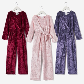 Kid Girl Wide Trousers Velvet Romper