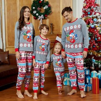 Smurfs Papa Smurf Fairisle Christmas Family Matching Pajamas(Flame Resistant)