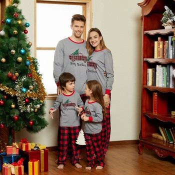 Pickup Trucks with Tree Christmas Family Matching Pajamas Sets(Flame Resistant)